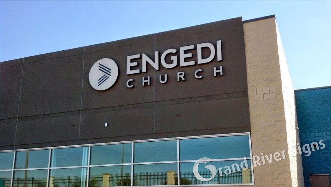 Flush_Mount_LED_Channel_Letters_Engedi_Church_Holland_MI