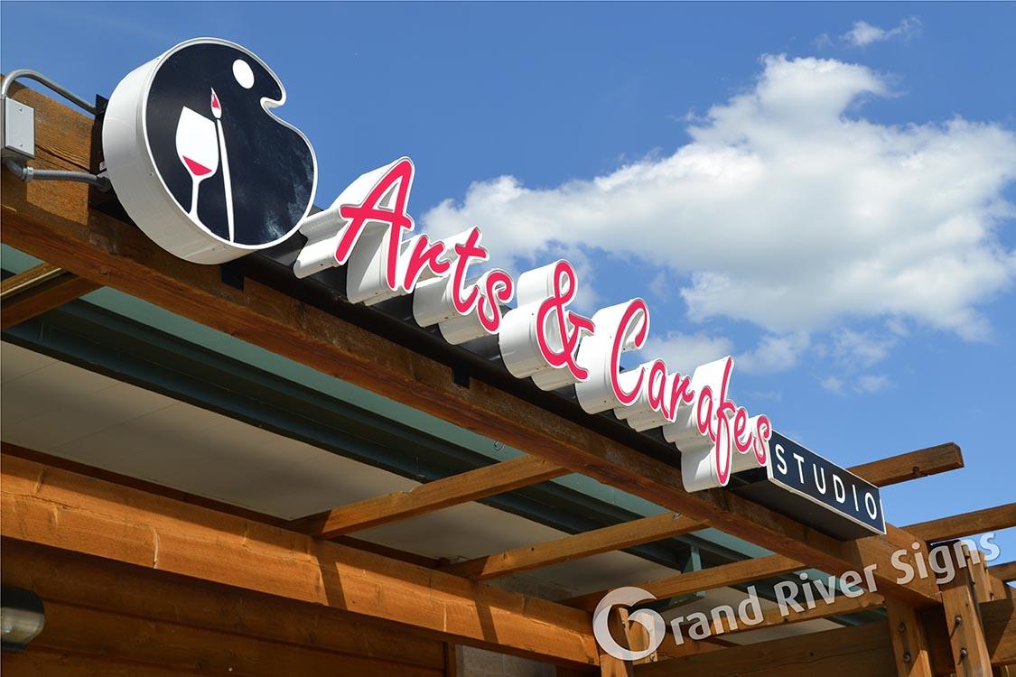 LED_Channel_Letters_Raceway_Arts_and_Carafes_Grand_Rapids_MI