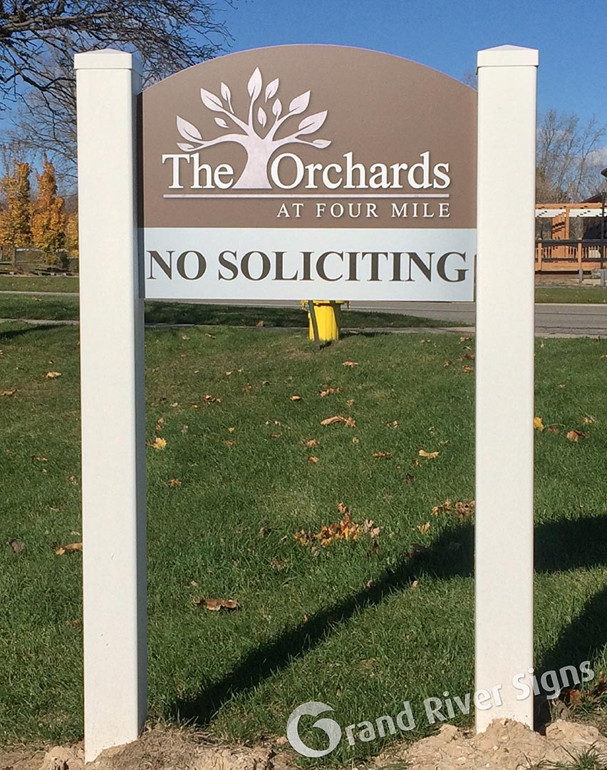 No Solicitation Signs – The Orchards Apartments – Grand Rapids MI
